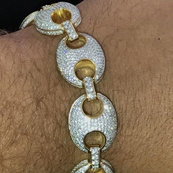 81cf7ef87135b Mens Mariner Gucci Link Bracelet 14k Gold NWT
